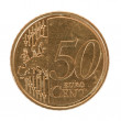 Fifty euro cent coin - Stock Photo