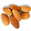 Few almond nuts — Stock Photo