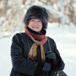 Happy mature woman in winter — Stock Photo #5155618