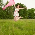 Jumping teen girl — Stock Photo #5155666