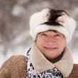 Stock Photo: Portrait of mature woman in winter