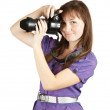 Photographer girl — Stock Photo
