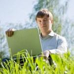 Men working on laptop — Stock Photo #5156394
