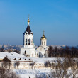 Stock Photo: Monastery at Vladimir in winte