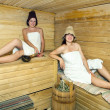 Young girls at sauna — Stock Photo #5156840