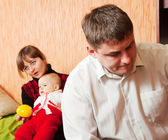 Marriage quarreling at home — Stock Photo