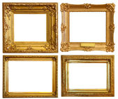 Set of Luxury gilded frames — Stock Photo