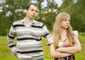 Young couple having quarrel. — Stock Photo
