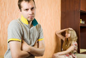 Couple having quarrel. — Stock Photo