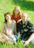 Rodiče s dětmi — Stock fotografie