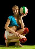 Sporty girl — Stock Photo