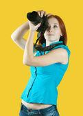Fotografo femmina — Foto Stock