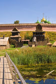 Monastery fortress at Suzdal — Stock Photo