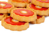 Cookie with marmalade — Stock Photo