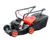 Lawnmower over white — Stock Photo