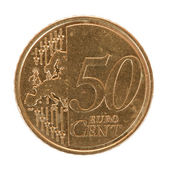 Fifty euro cent coin — Stock Photo
