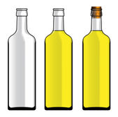 Set of different bottles — Stock Photo