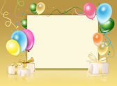 Festive background from balloons — Stock Photo
