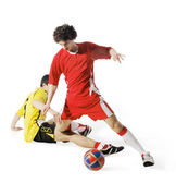 Boy with soccer ball, Footballers — Stock Photo