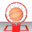 Постер, плакат: Basketball ball hoops