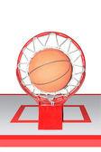 Basketball ball hoops — Stock Photo