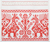 Ukrainian embroidery, towel, texture — Stock Photo