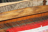 Old Russian loom — Stock Photo
