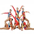 Performance by the young athlete aerobics — Stock Photo
