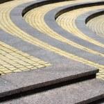 Texture, granite step on the circle — Stock Photo