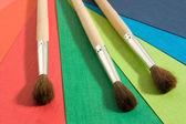 Brushes on background — Stock Photo