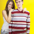 Stock Photo: Beautiful young couple in casual clothing