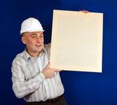 Caucasian foreman — Stock Photo
