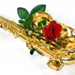 Royalty-Free Stock Photo: Sax and rose