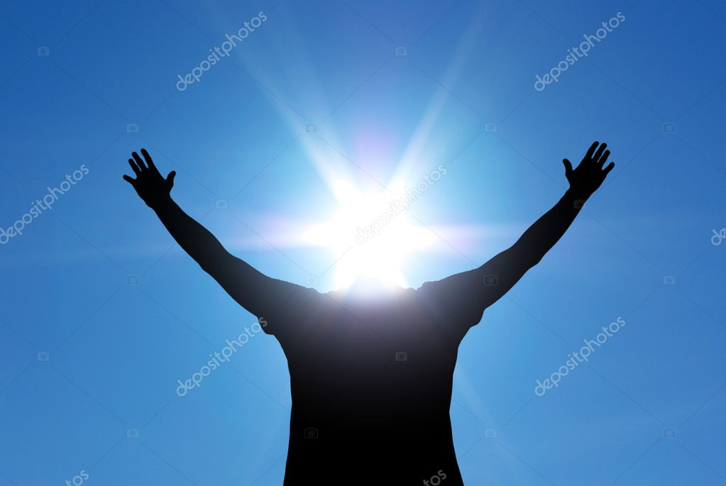 Man with sun head. Conceptual design. — Stock Photo #2843367