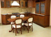 Wooden kitchen — Stock Photo