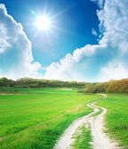 Way to sun — Stock Photo