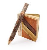 Naturalne ołówek i skrypt dłużny podkładka — Zdjęcie stockowe
