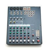 Isolated mixing console — Stock Photo