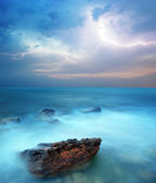 Storm in sea — Stock fotografie