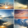 Sunset collection — Stock Photo