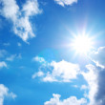 Blue sky and sun — Stock Photo #3487470
