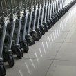 Stock Photo: Cart in row