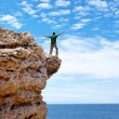 Man on the edge — Stock Photo