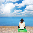 Woman in meditation - Stock Photo