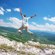 Jump from the cliff — Stock Photo