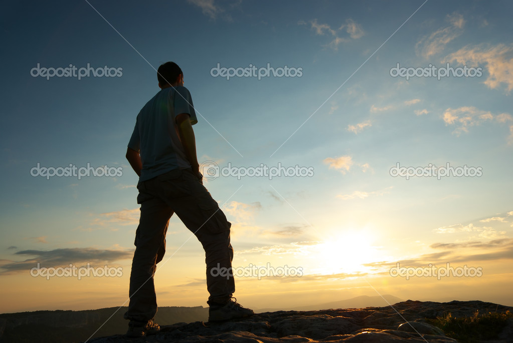 Silhouette of man � Stock Photo � zatvor #3623556