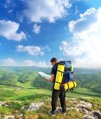 Tourisme en montagne — Photo
