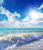Beautiful coast of beach at day. Nature composition. — Stock Photo
