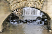 Ancient water-mill in spring — Stock Photo