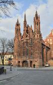 Gothic St. Ann's church — Stock Photo